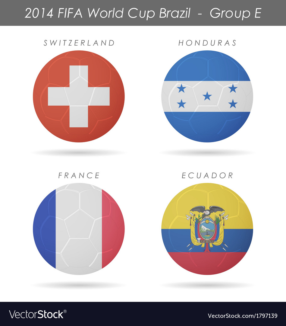 2014 fifa world cup group e countries vector | Price: 1 Credit (USD $1)