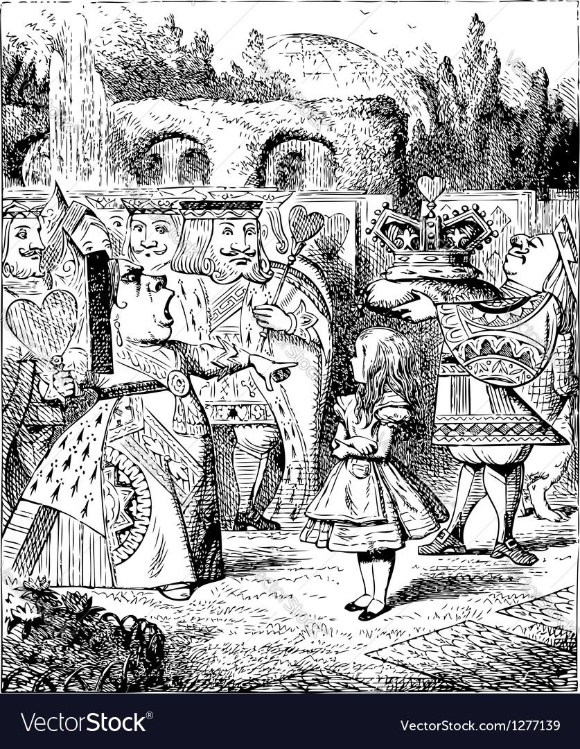 Alice in wonderland vector | Price: 1 Credit (USD $1)