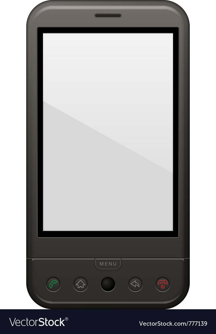 Android phone template vector | Price: 1 Credit (USD $1)