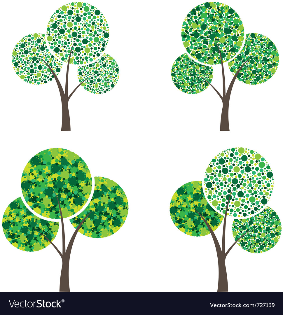 Art season trees vector | Price: 1 Credit (USD $1)