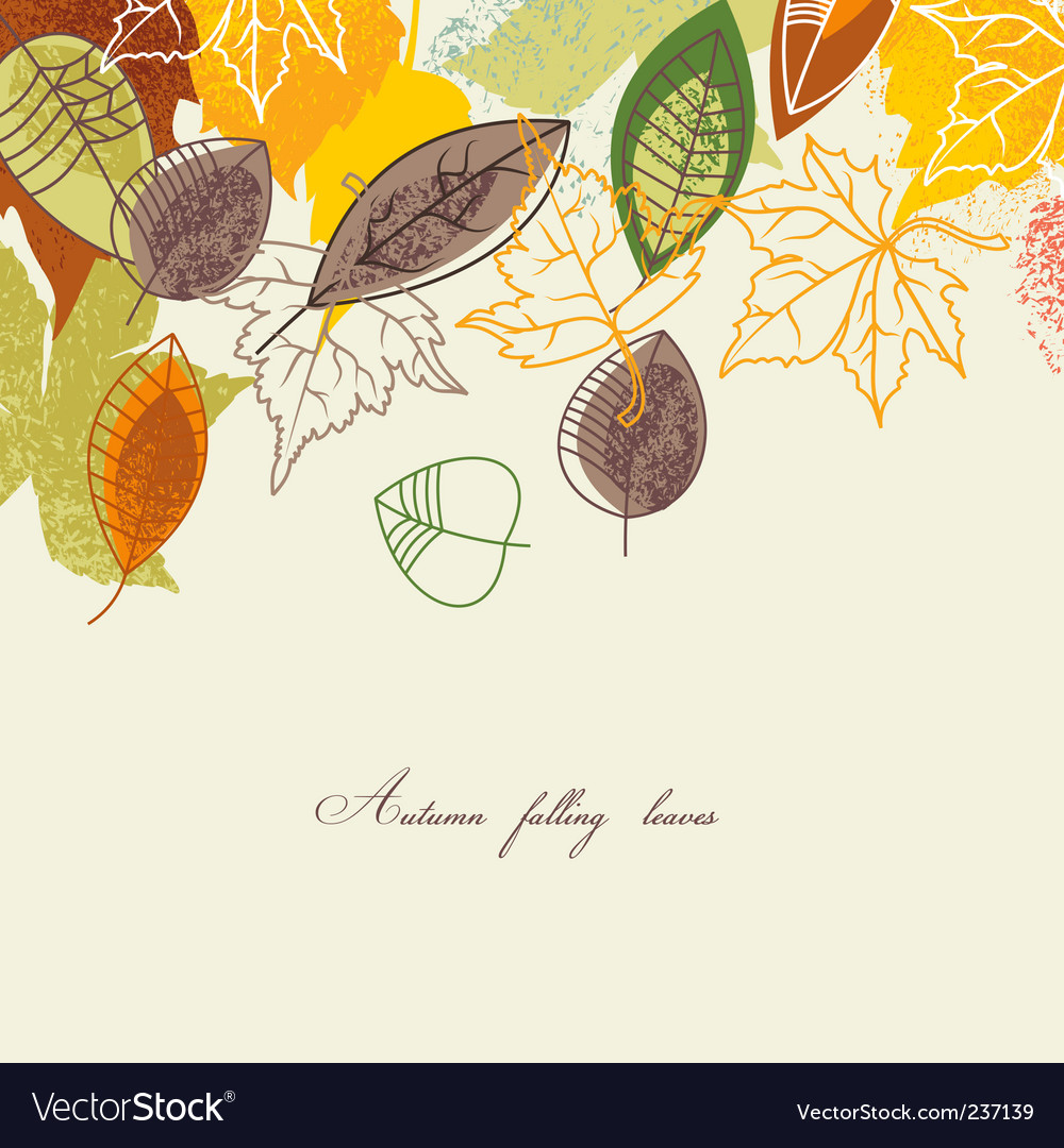 Autumnal background vector | Price: 1 Credit (USD $1)