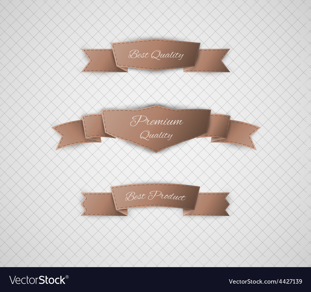 Brown quality label vector | Price: 1 Credit (USD $1)