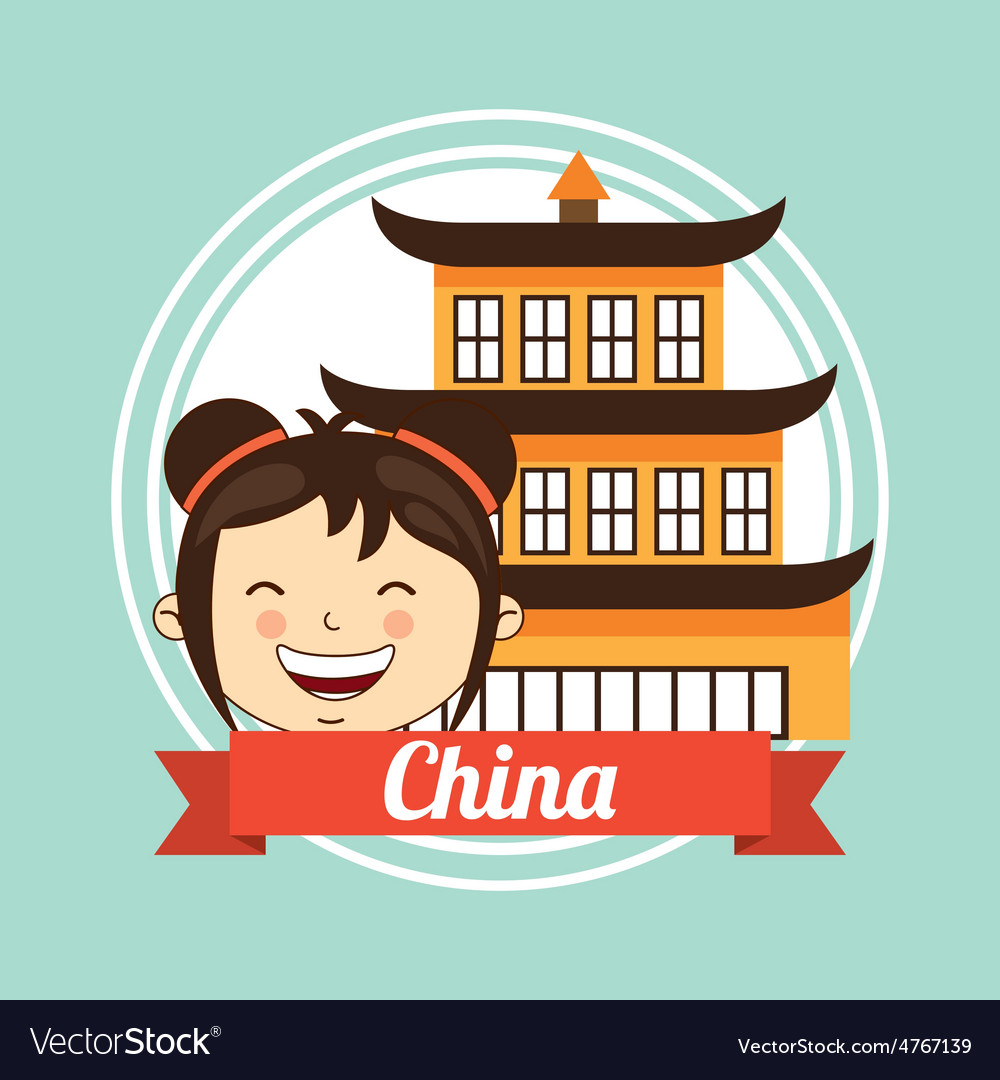 China kid vector