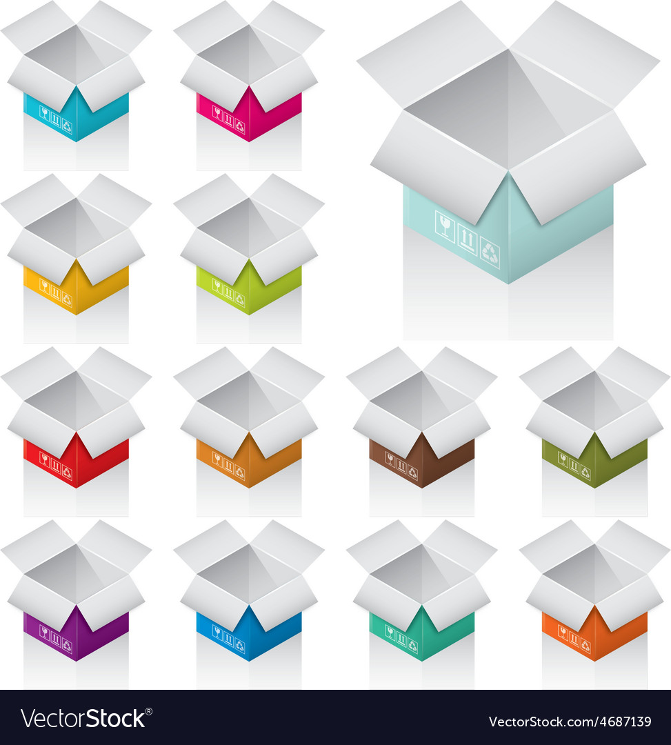 Colorful boxes vector | Price: 1 Credit (USD $1)