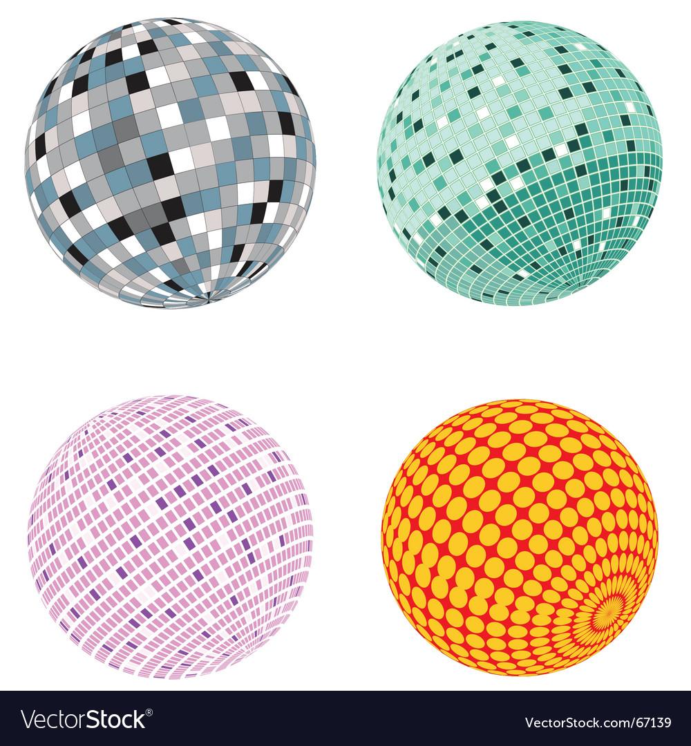 Disco ball set vector | Price: 1 Credit (USD $1)