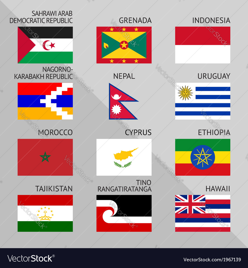 Flags of world 15 vector | Price: 1 Credit (USD $1)