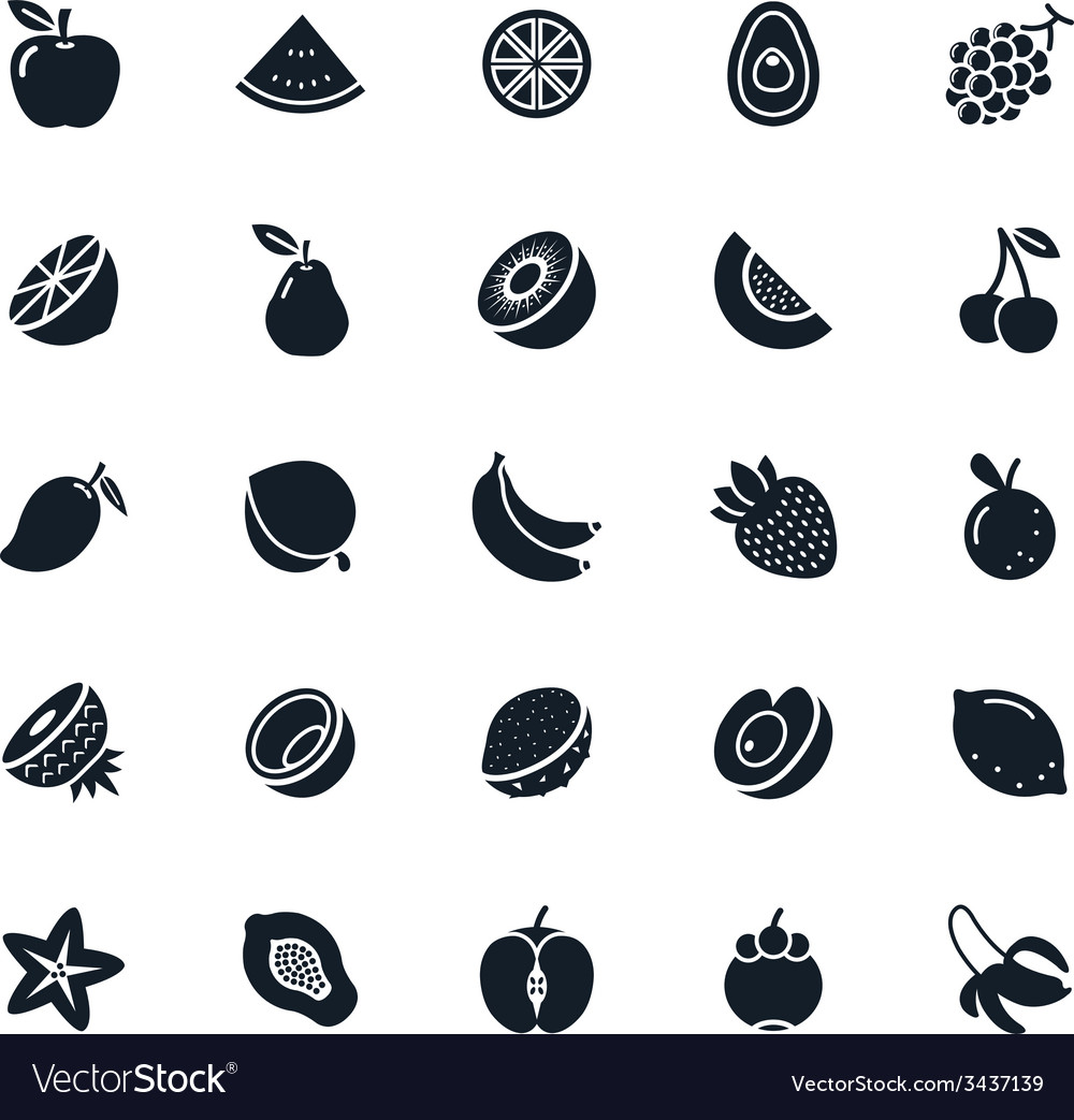 Fruit icon vector | Price: 1 Credit (USD $1)