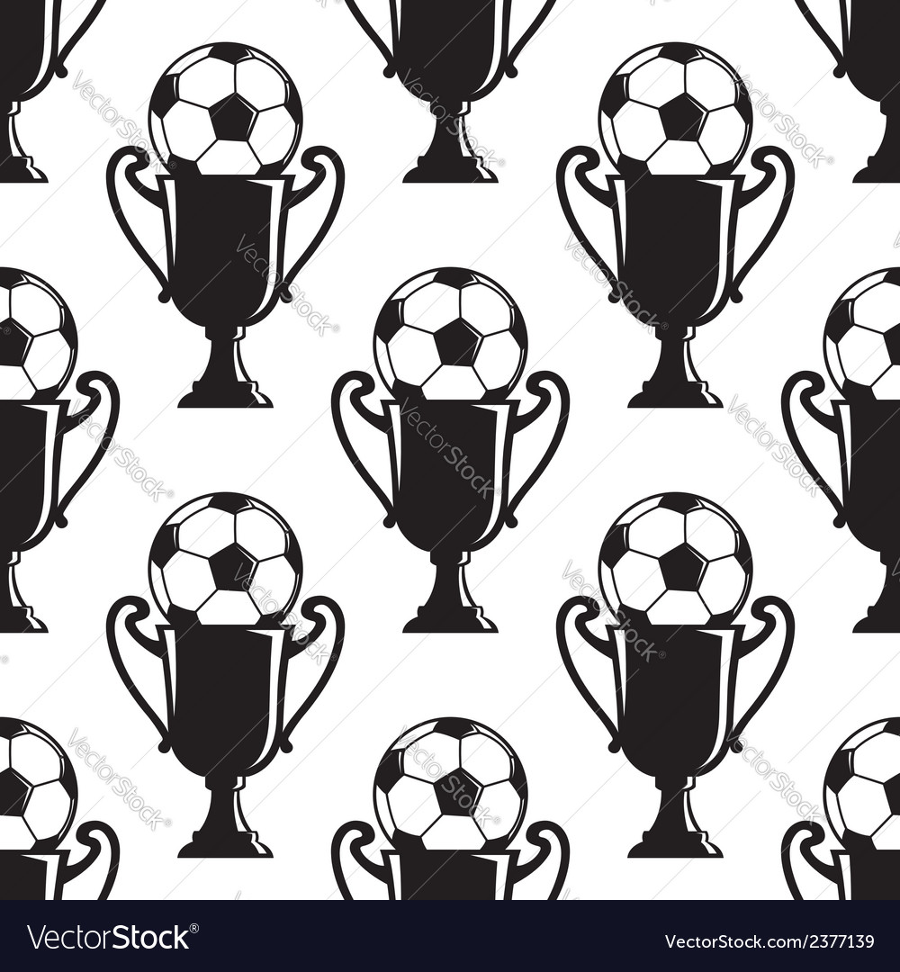 Soccer champions trophy seamless pattern vector | Price: 1 Credit (USD $1)