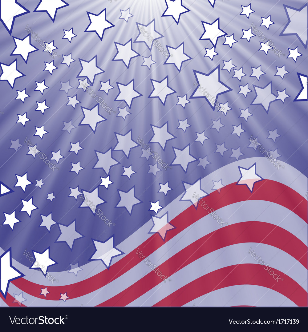 Starry flag vector | Price: 1 Credit (USD $1)