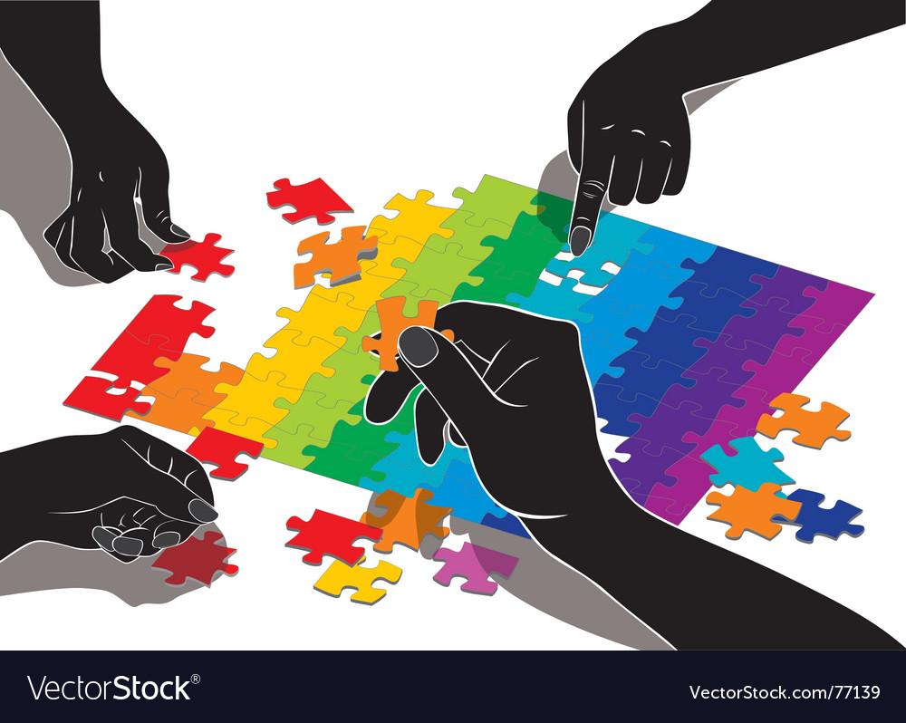 Teamwork symbol vector | Price: 1 Credit (USD $1)