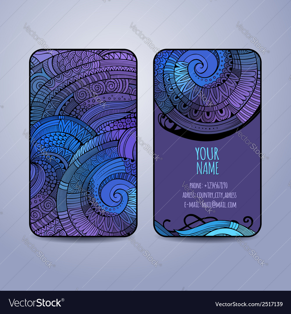 Template business cards vector | Price: 1 Credit (USD $1)