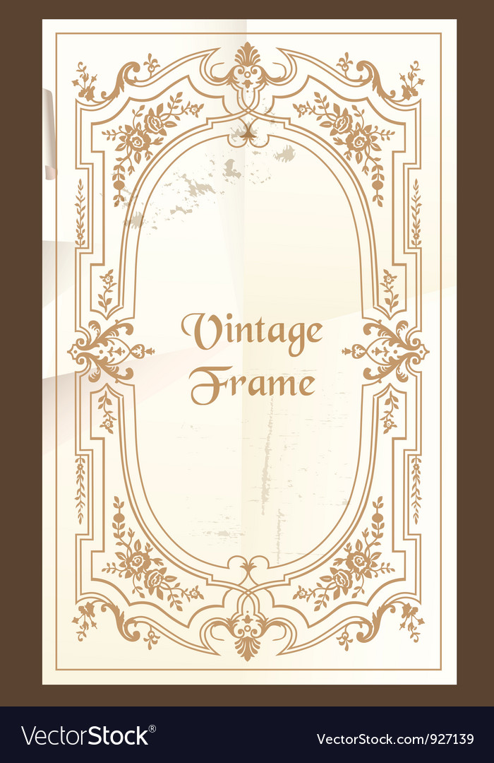 Vintage frame - with place for your text vector | Price: 1 Credit (USD $1)