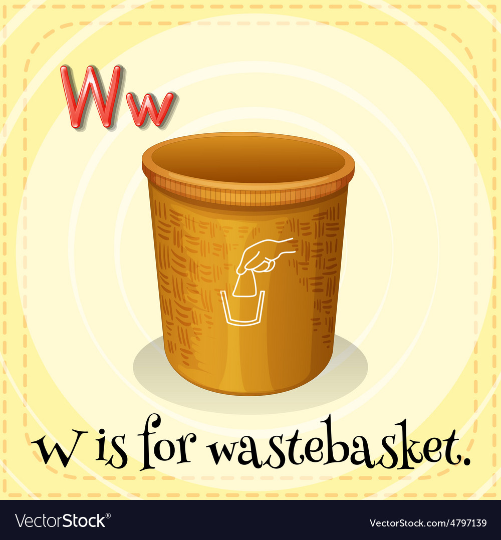 Wastebasket vector | Price: 1 Credit (USD $1)
