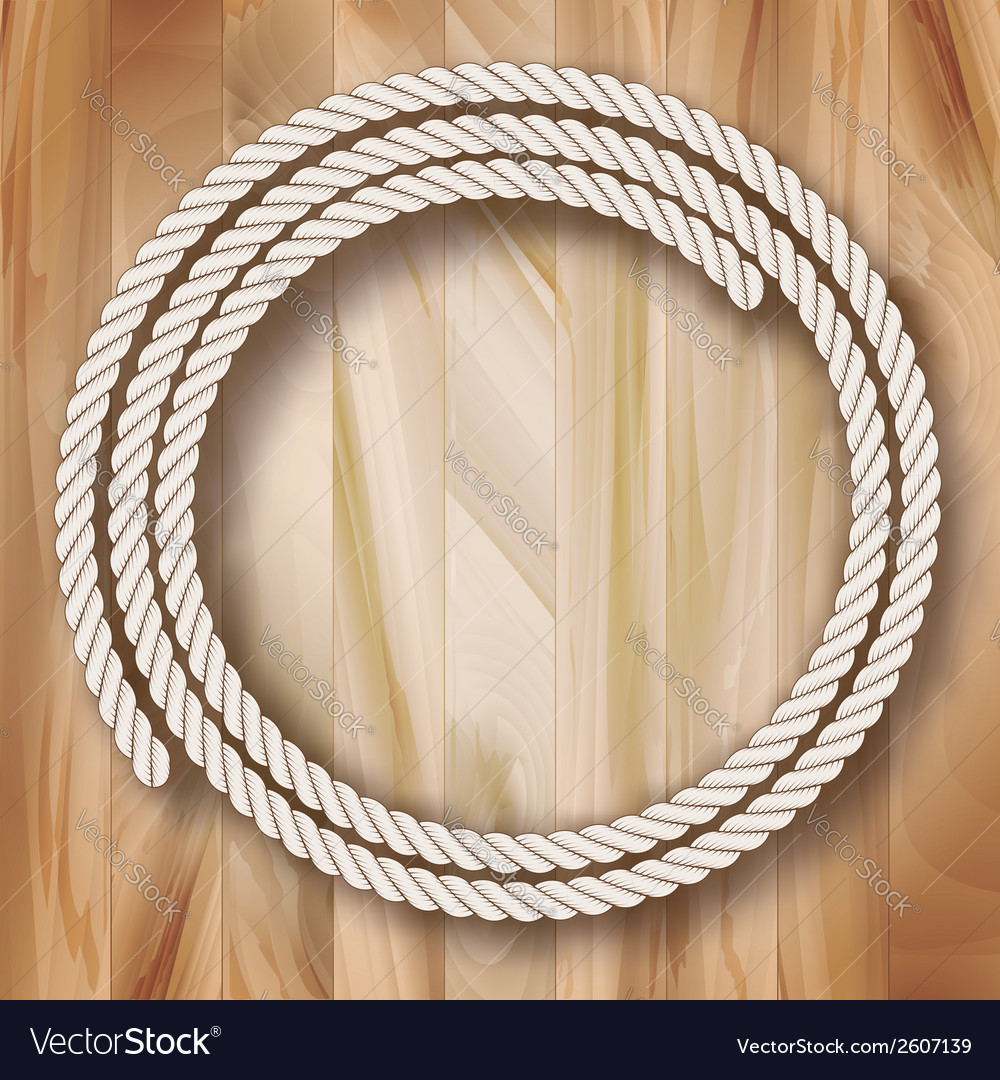 Wood frame rope design vector | Price: 1 Credit (USD $1)