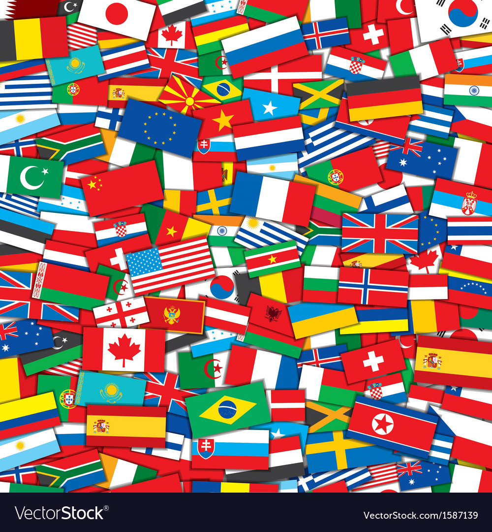 World flags background eps10 template vector | Price: 1 Credit (USD $1)
