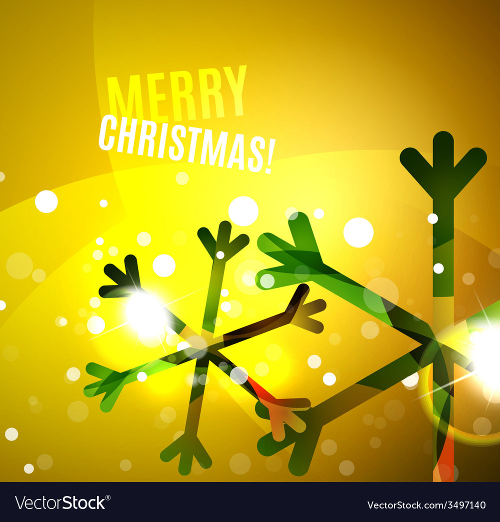 Colorful bright shiny chrismas card vector   Price: 1 Credit (USD $1)