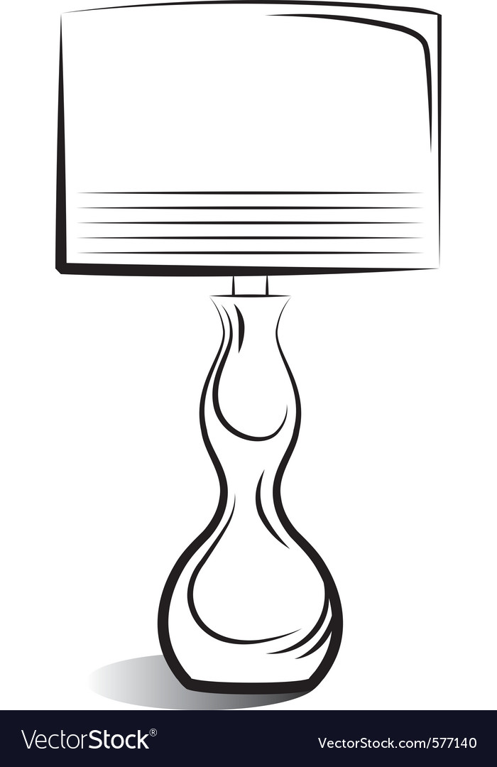 Drawing of the lamp vector | Price: 1 Credit (USD $1)
