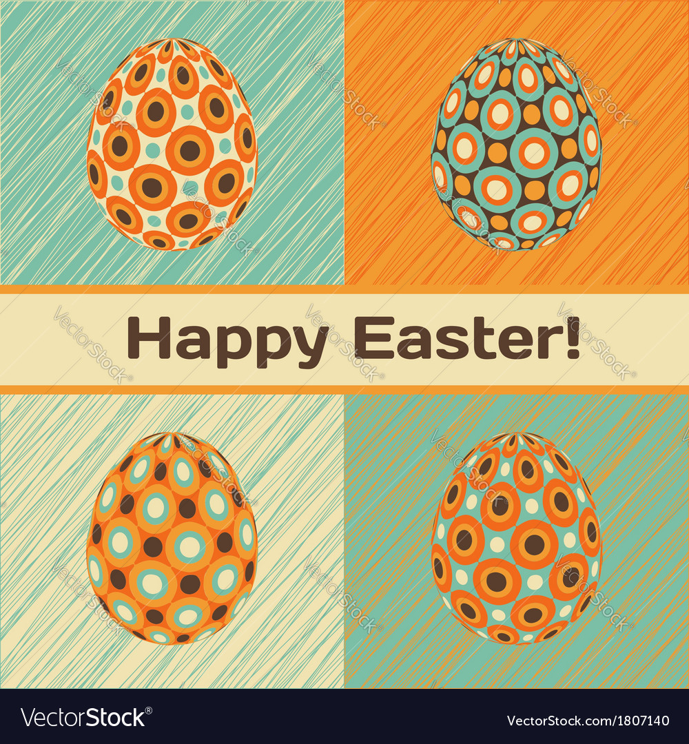 Easter card with eggs and banner vector | Price: 1 Credit (USD $1)