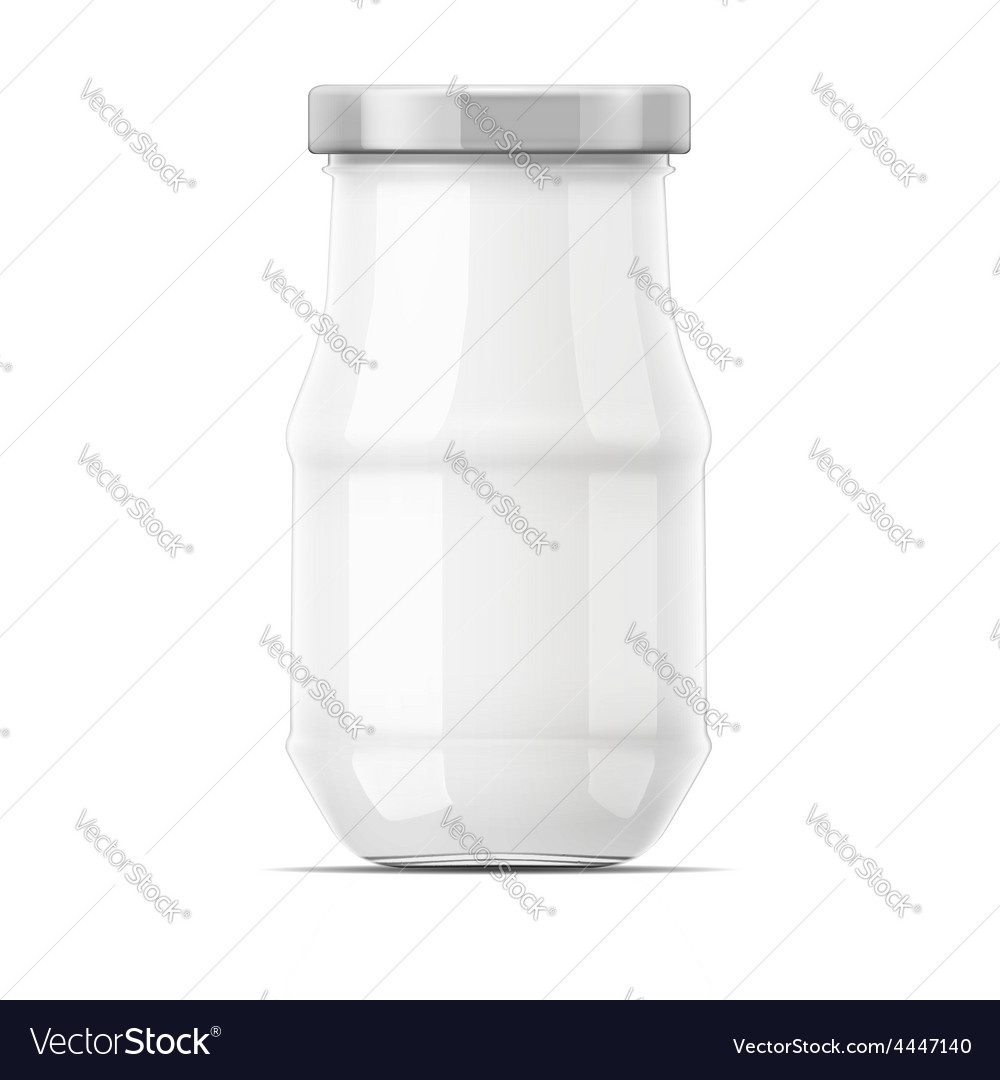 Empty glass jar with cap vector | Price: 3 Credit (USD $3)
