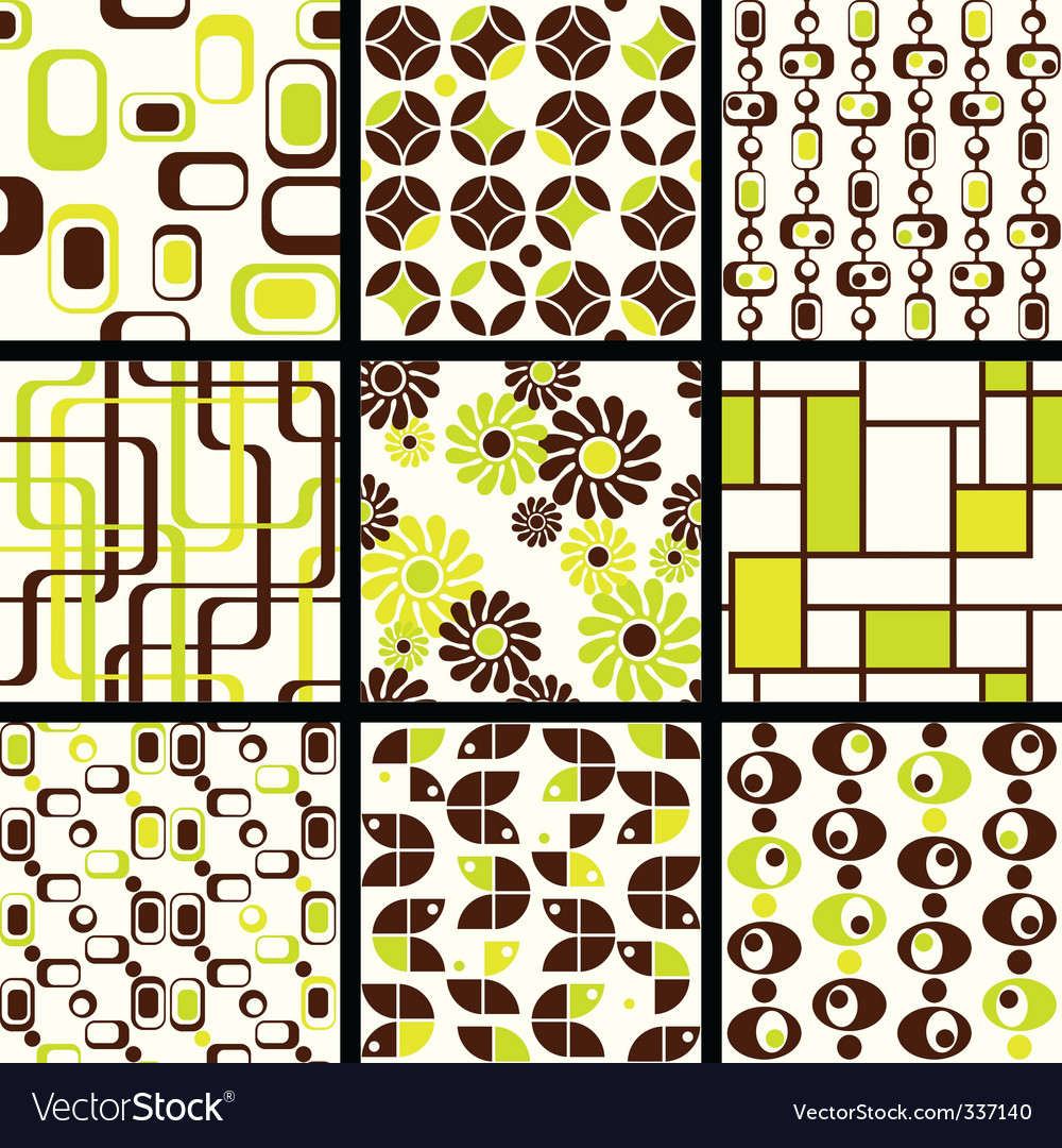 Modern seamless patterns vector | Price: 1 Credit (USD $1)