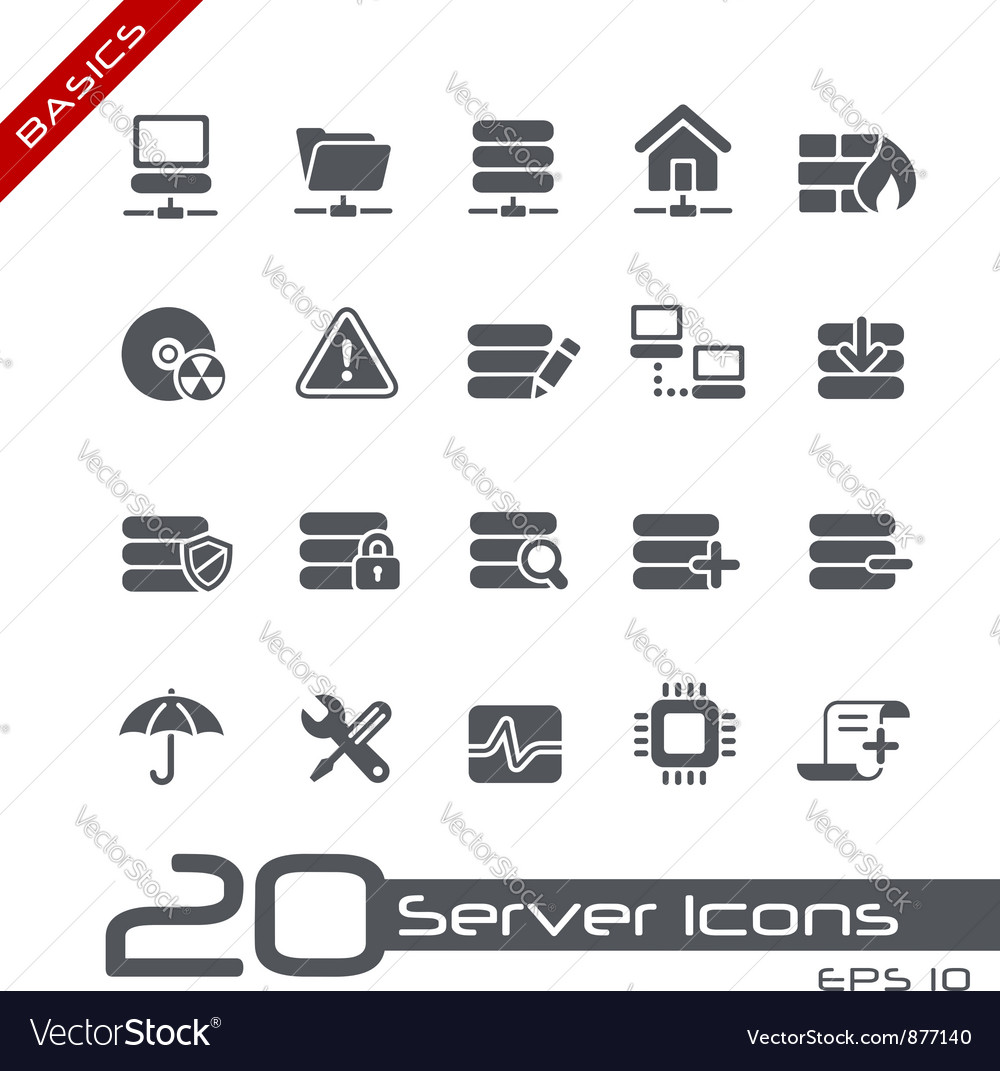 Network server basics series vector | Price: 1 Credit (USD $1)