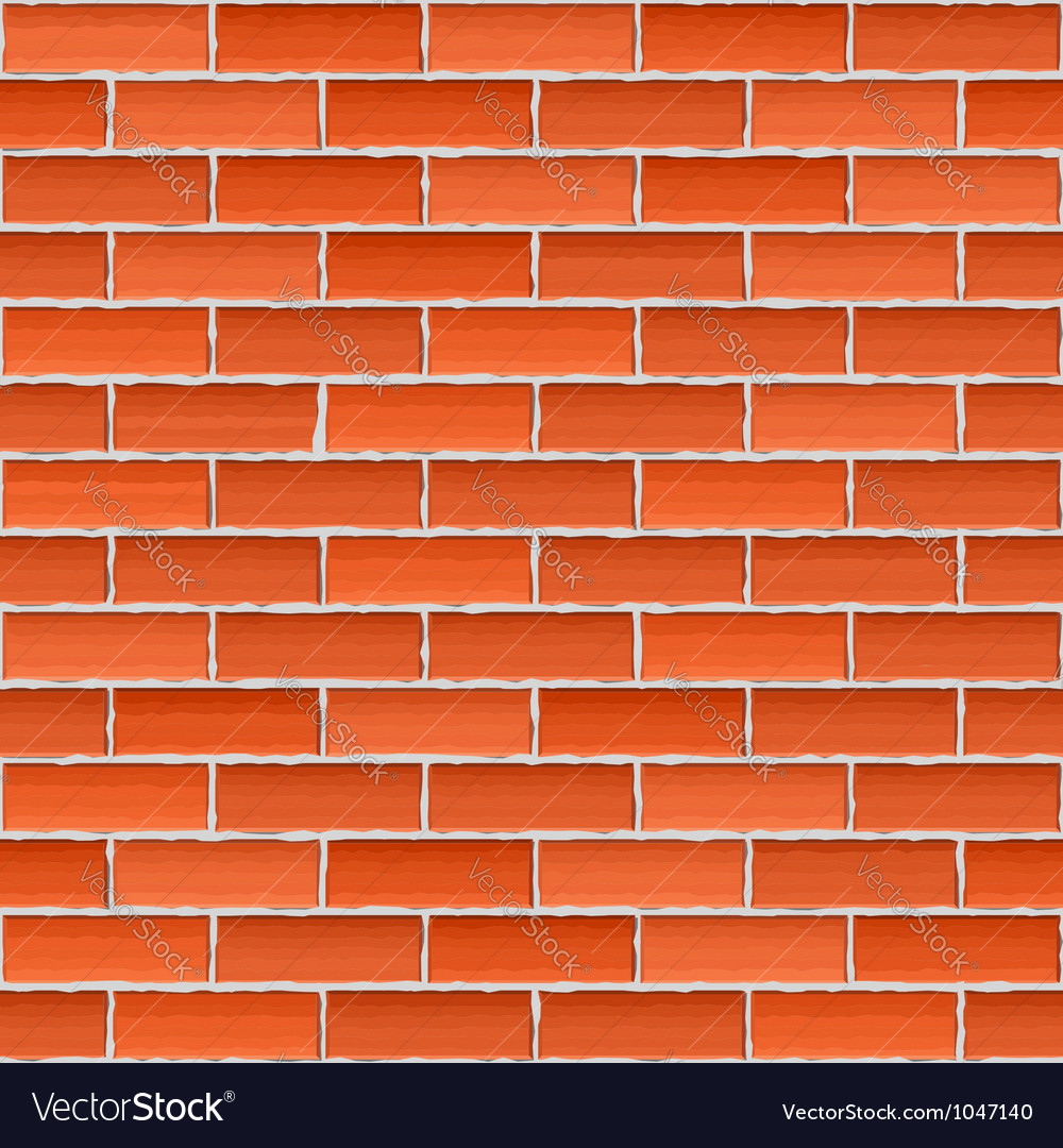 Old brick wall seamless background vector | Price: 1 Credit (USD $1)