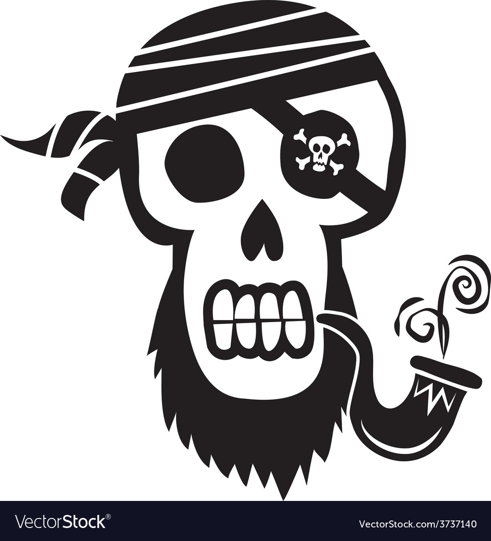 Pirate skull and crossbones vector | Price: 1 Credit (USD $1)