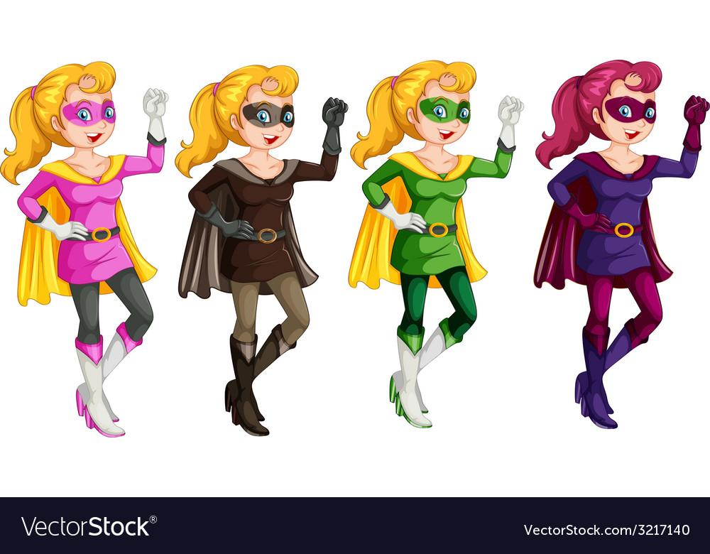 Superheroes vector | Price: 1 Credit (USD $1)