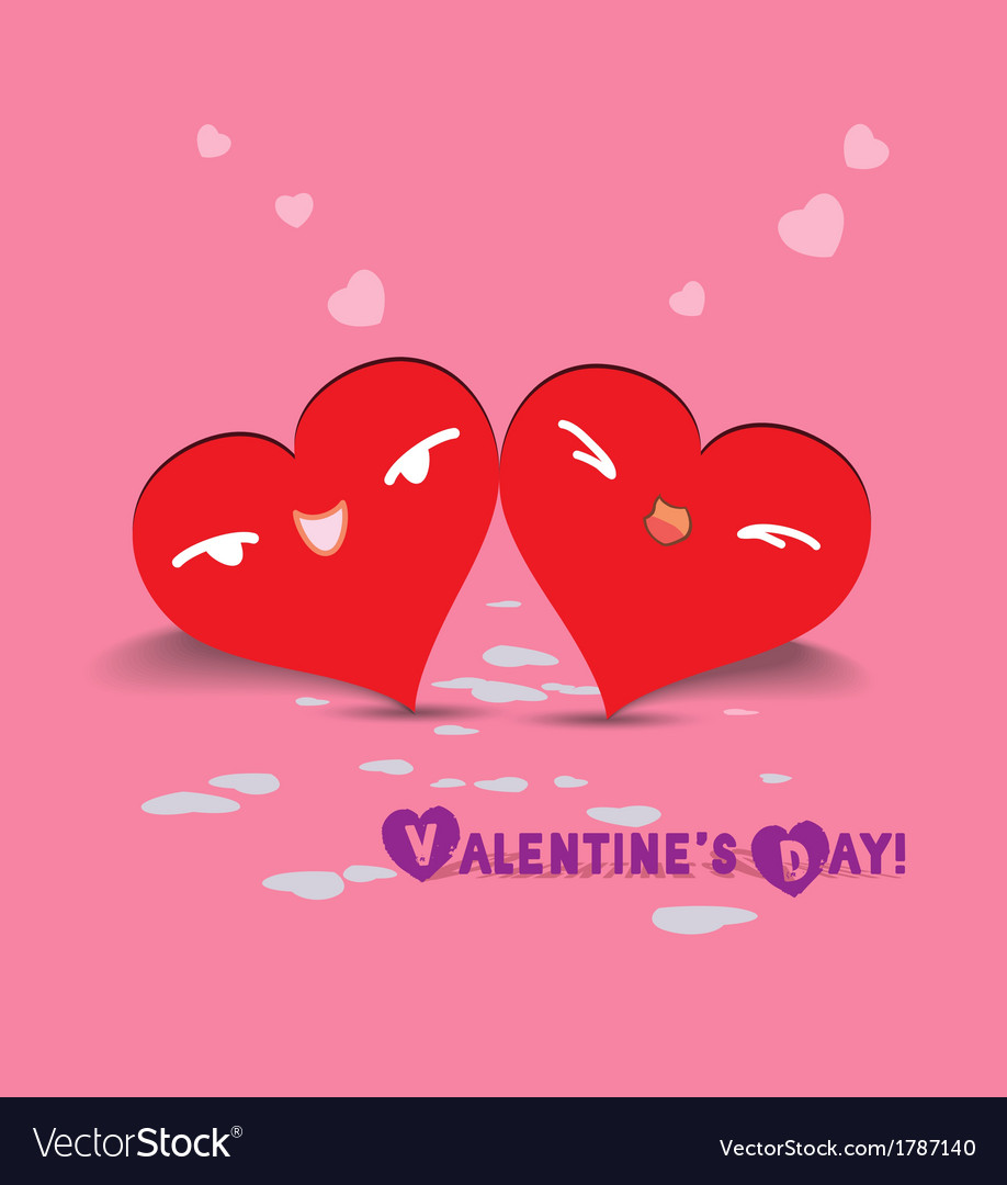 Valentine day couple hearts vector | Price: 1 Credit (USD $1)
