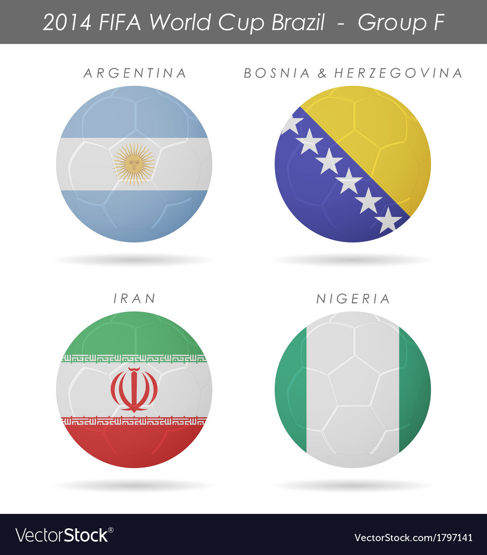 2014 fifa world cup group f countries vector | Price: 1 Credit (USD $1)