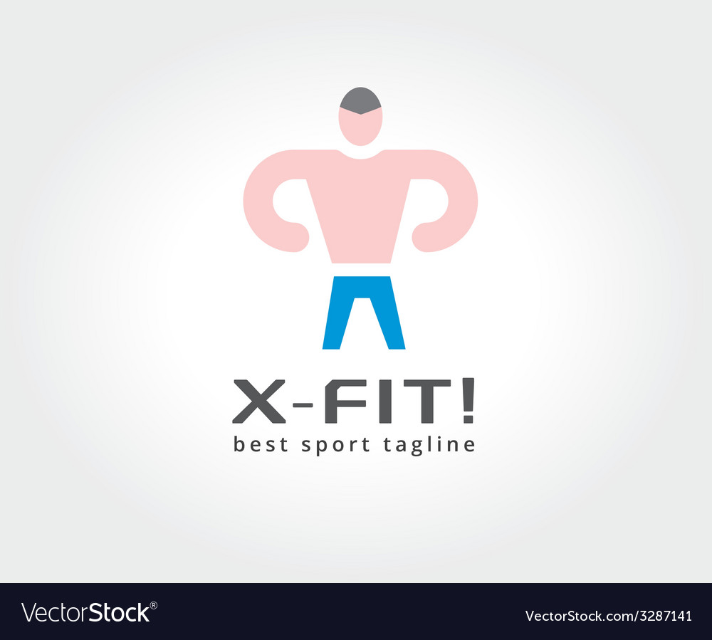 Abstract fitness man logo icon concept logotype vector | Price: 1 Credit (USD $1)