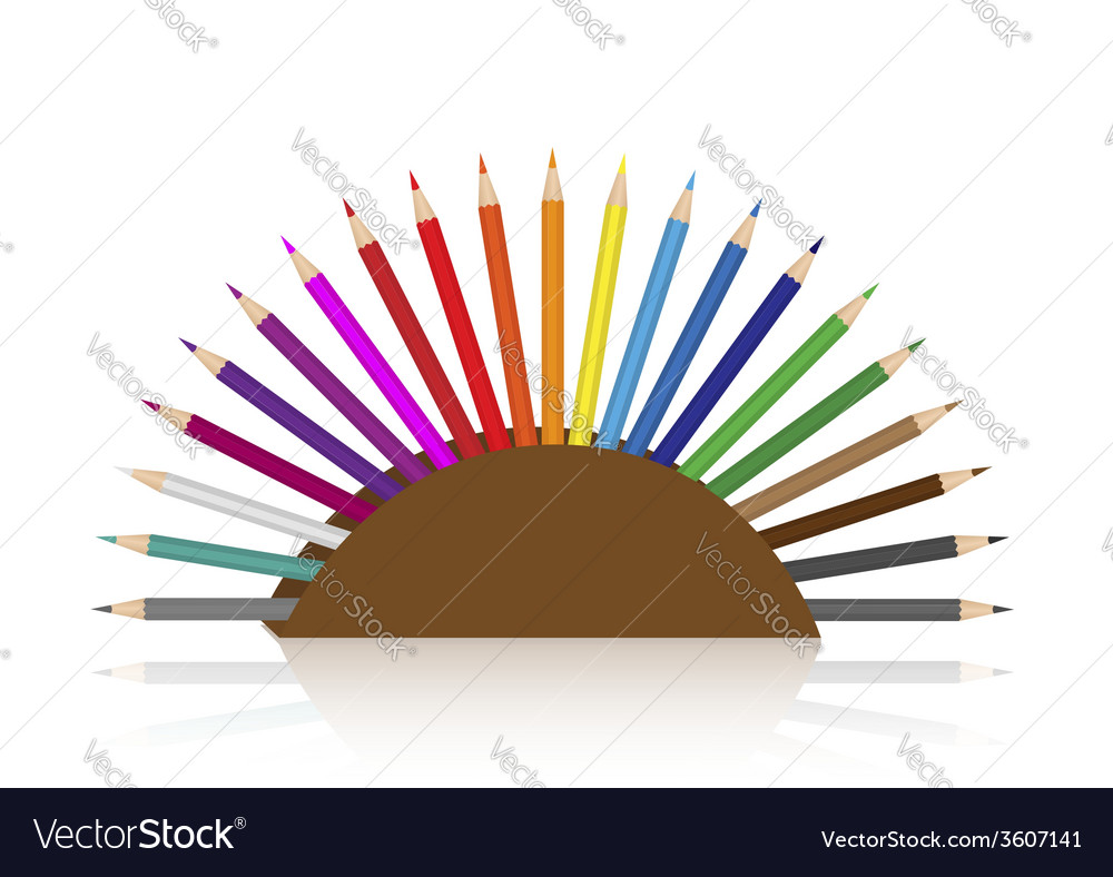 Colour pencils set vector | Price: 1 Credit (USD $1)