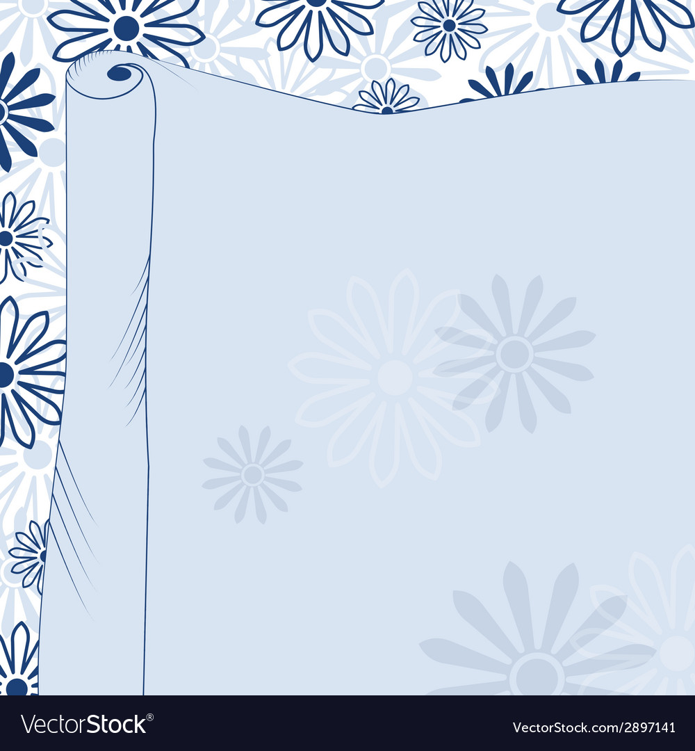 Daisies blue background vector   Price: 1 Credit (USD $1)