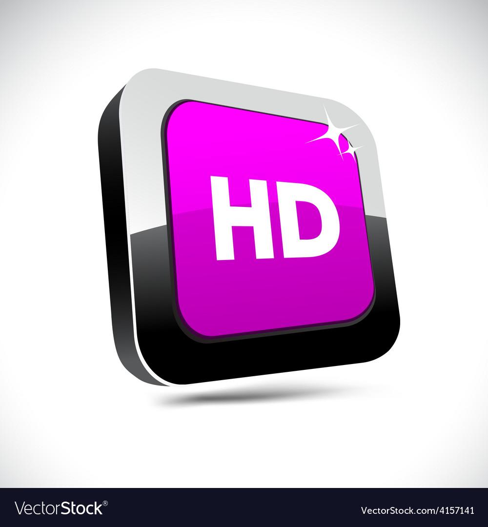 Hd 3d square button vector | Price: 1 Credit (USD $1)