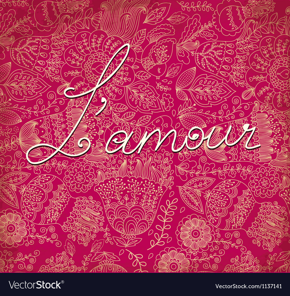 Lamour on romantic background vector | Price: 1 Credit (USD $1)