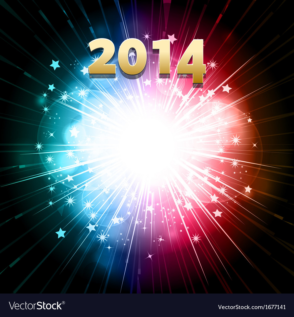 New year firework vector | Price: 1 Credit (USD $1)