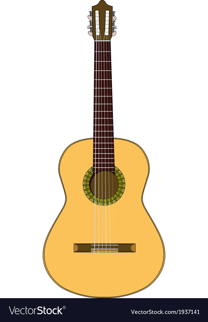 Spanish guitar vector | Price: 1 Credit (USD $1)
