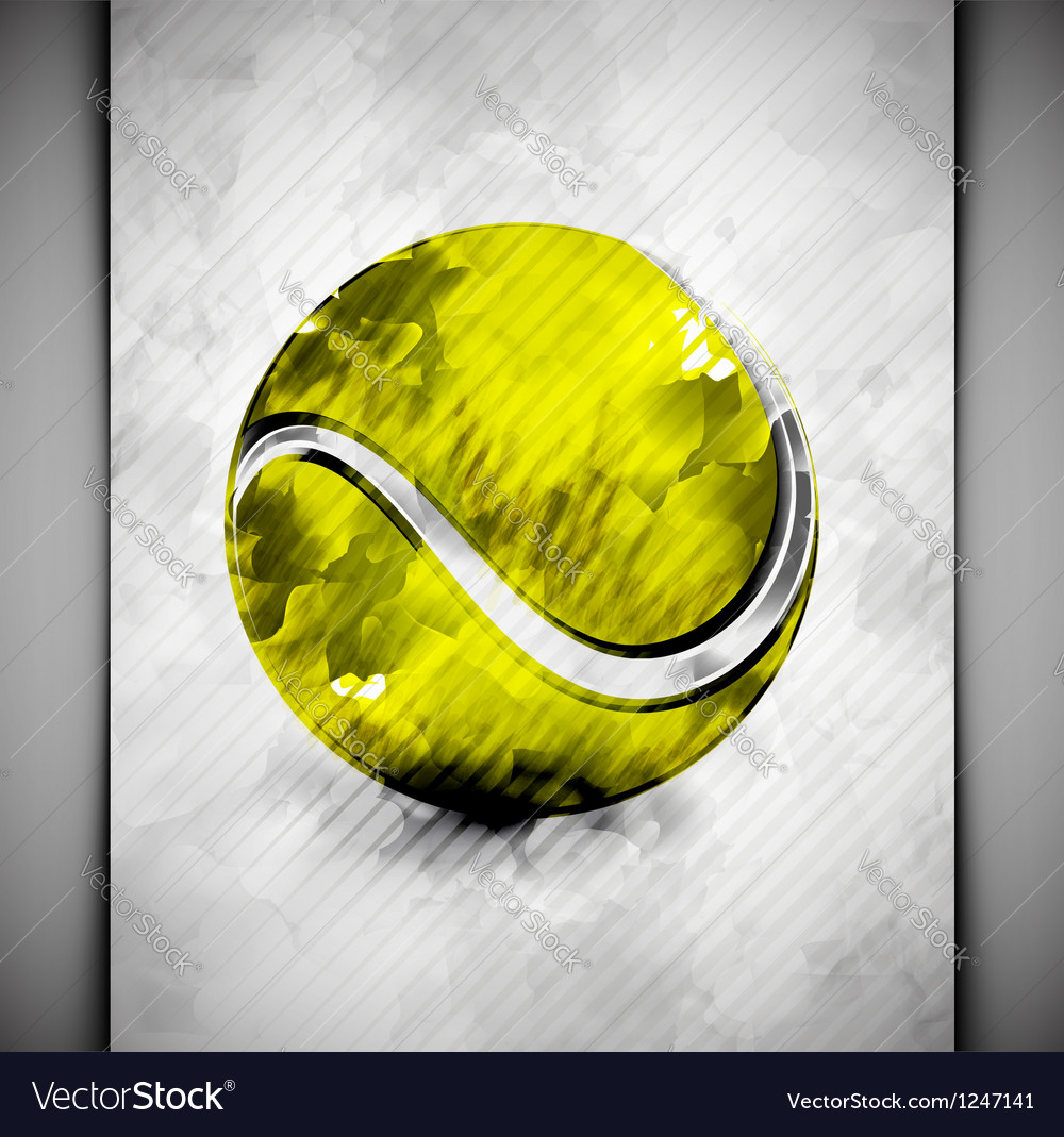 Tennis ball watercolor vector | Price: 1 Credit (USD $1)