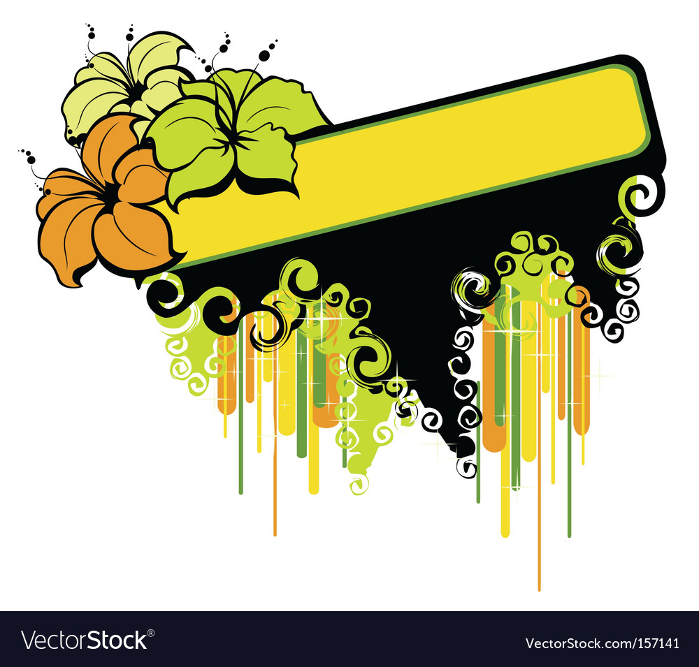Tropical banner vector | Price: 1 Credit (USD $1)