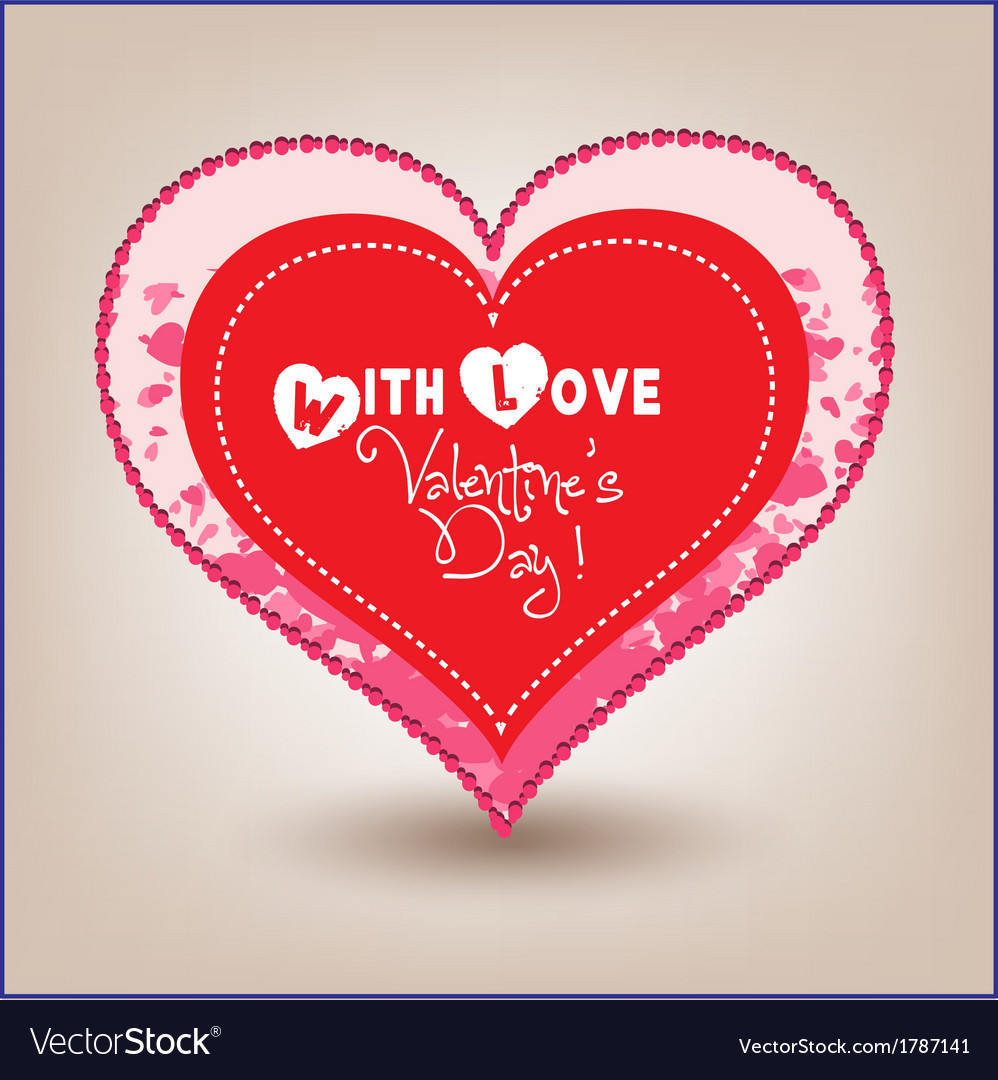 Valentine day heart in hearts vector | Price: 1 Credit (USD $1)
