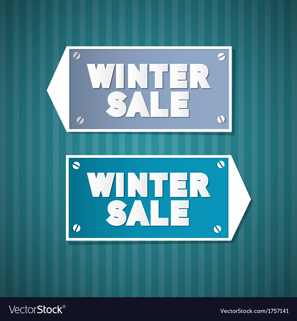 Winter sale retro signs vector   Price: 1 Credit (USD $1)