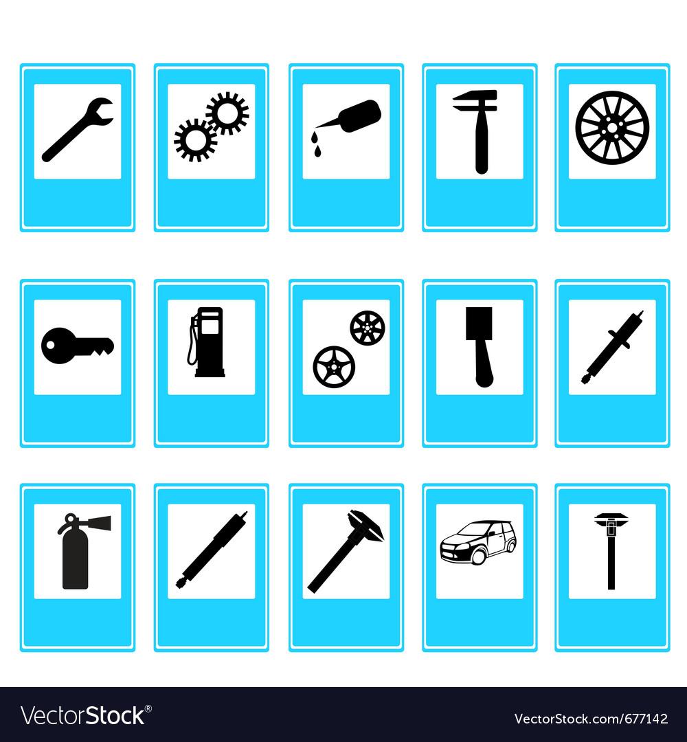 Auto car repair service icons vector | Price: 1 Credit (USD $1)