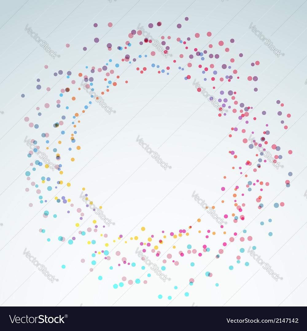 Colorful bright round circle design element vector | Price: 1 Credit (USD $1)