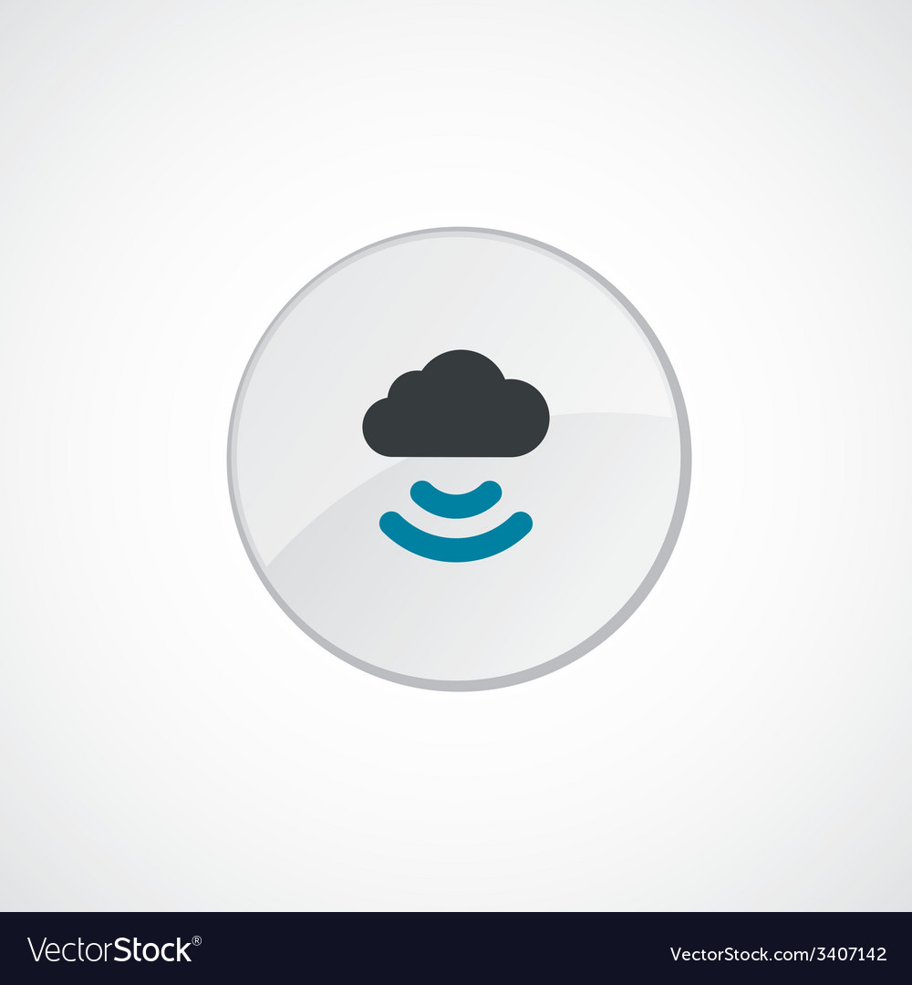 Connect cloud icon 2 colored vector | Price: 1 Credit (USD $1)