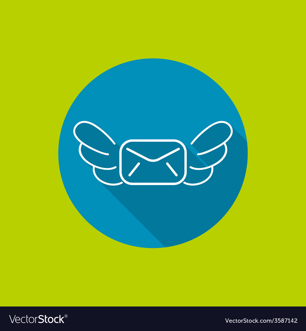 Envelope with wings vector | Price: 1 Credit (USD $1)
