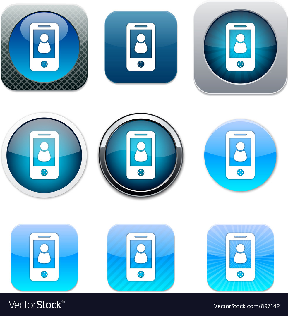 Person blue app icons vector | Price: 1 Credit (USD $1)