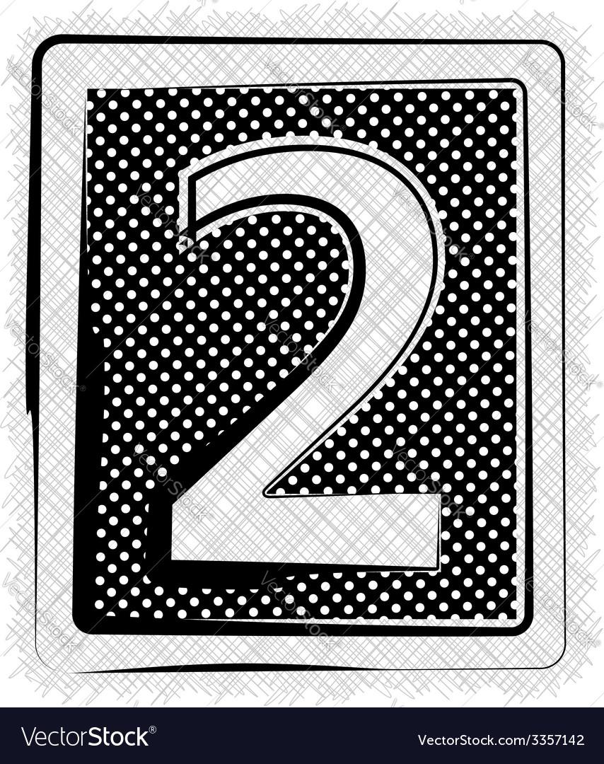 Polka dot font number 2 vector   Price: 1 Credit (USD $1)