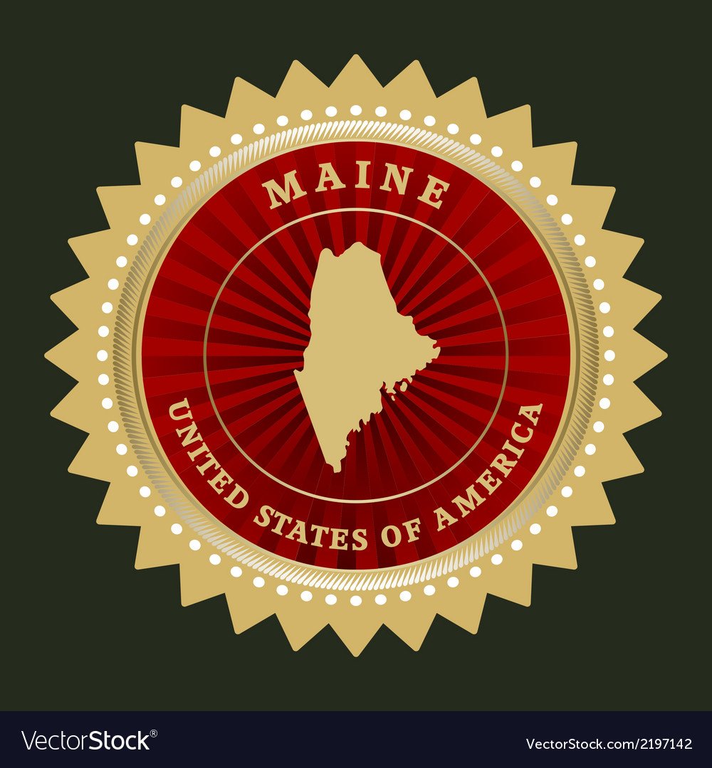 Star label maine vector | Price: 1 Credit (USD $1)