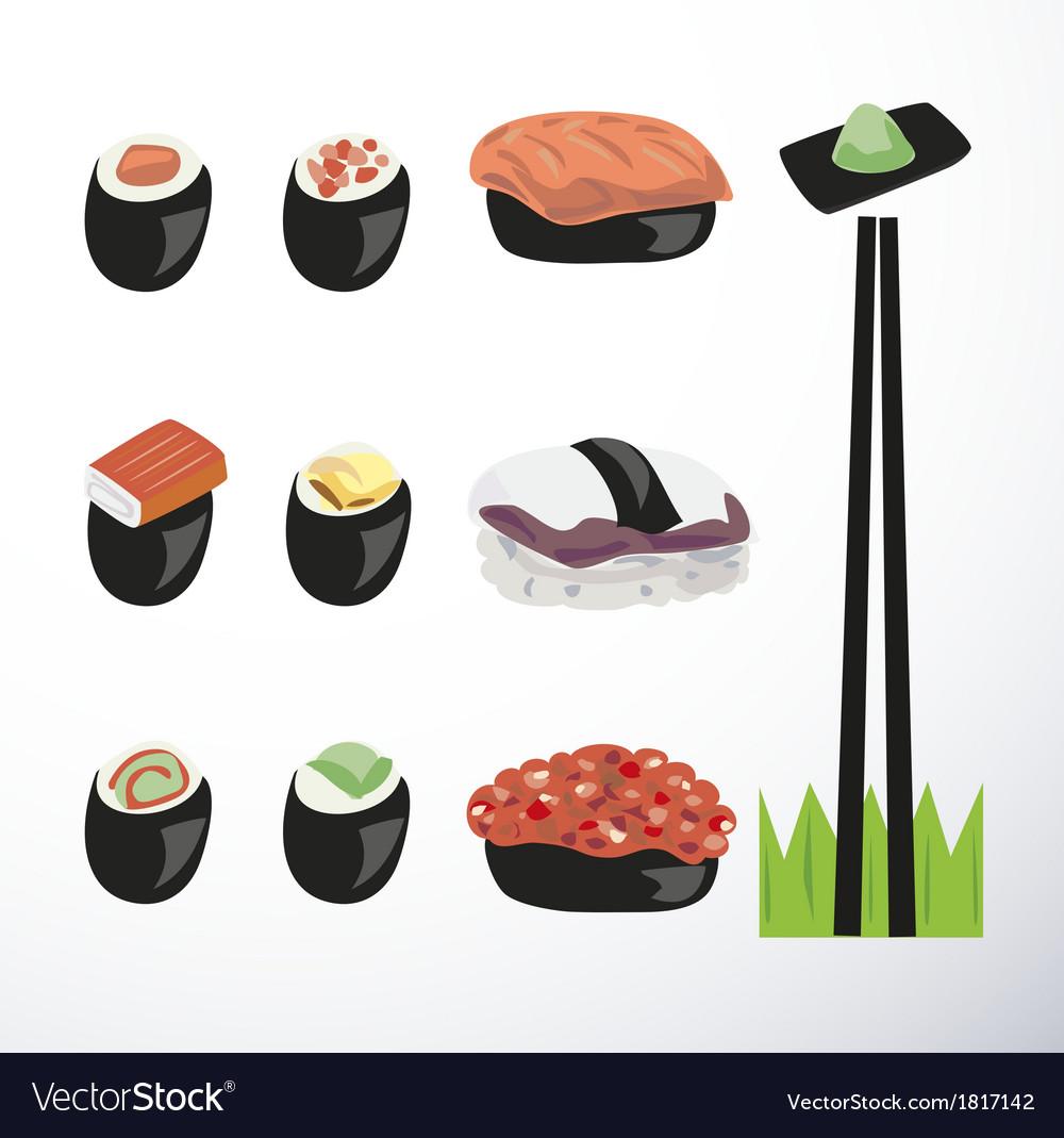 Sushi vector | Price: 1 Credit (USD $1)