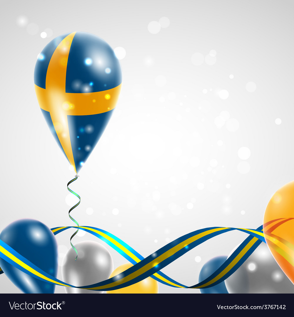 Sweden flag on balloon vector | Price: 3 Credit (USD $3)